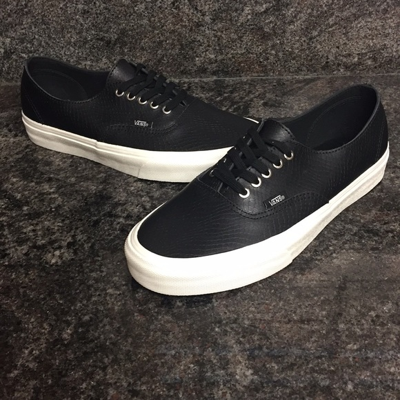 edcd0fbe3d Vans Authentic Decon Snake Black Leather Shoes